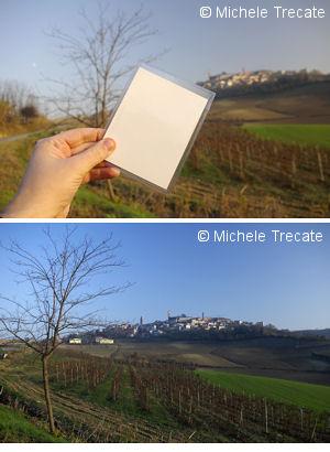 foto sopra: inquadrare un oggetto bianco; foto sotto: fotografare il paesaggio
