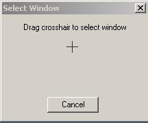 selezionare la finestra trascinando la croce