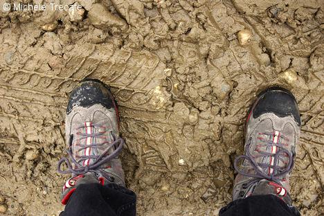 Scarpe nel fango