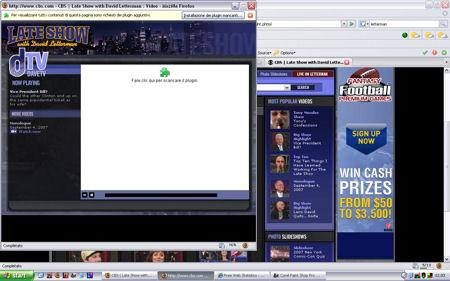 Immagine dello schermo