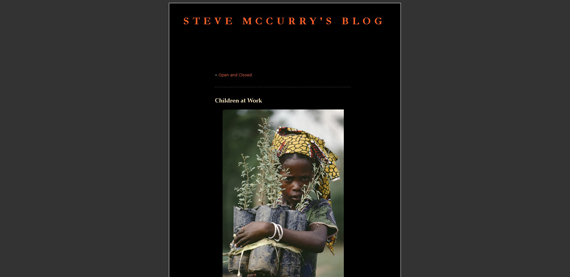 Immagine del blog di Steve Mccurry